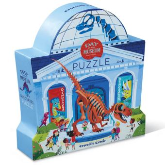 Puzzle Day at the Museum: Dinosaurs 48 Peças - Crocodile Creek