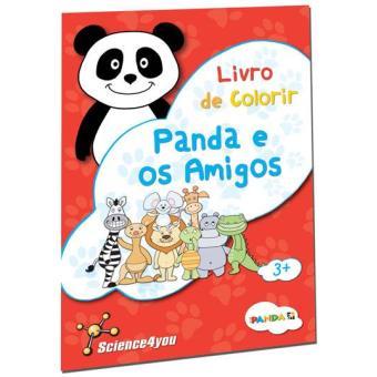 Livro de Colorir Panda e os Amigos
