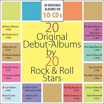 20 Original Debut-Albums By 20 Rock & Roll-Stars - 10CD