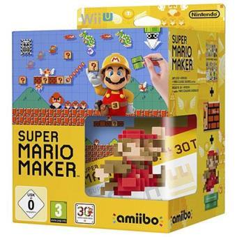 Super Mario Maker Wii U + Artbook + Figura Amiibo Mario Classic Colours