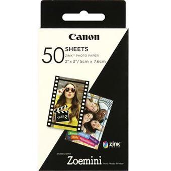 Carga Papel Fotográfico Canon Zink - 50 Folhas