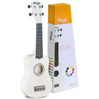 Ukulele  Soprano US-WHITE Stagg