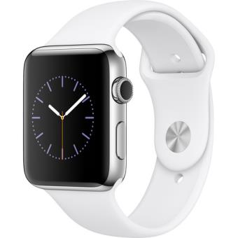 Apple Watch Series 2 42mm Aço Inoxidável | Bracelete Desportiva Branco