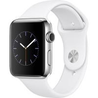 Apple Watch Series 2 42mm Aço Inoxidável | Bracelete Desportiva Branco