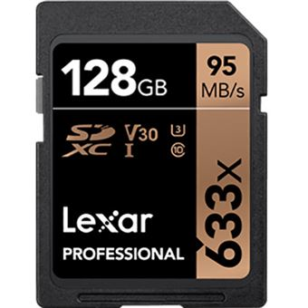 Cartão SDHC Lexar Professional 633x - 128 GB