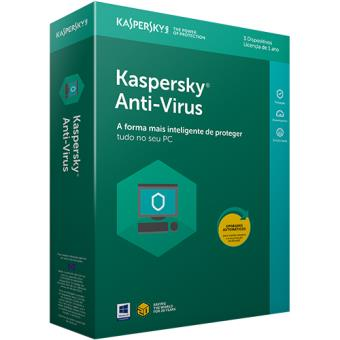 Kaspersky Anti-Virus  2018 - 3 Dispositivos | 1 Ano
