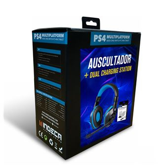 Headset + Dual Charging Station  PS4