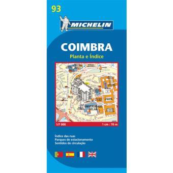 Mapa Michelin City Plan 93 - Coimbra
