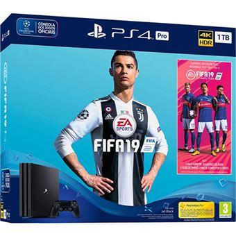 Consola Sony PS4 Pro 1TB + Fifa 19