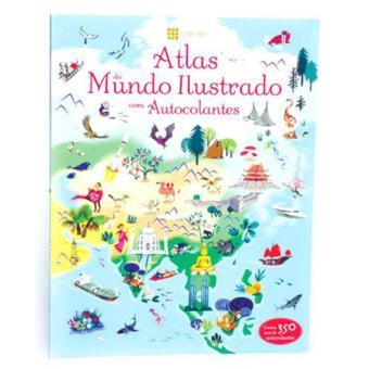 Atlas do Mundo Ilustrado com Autocolantes