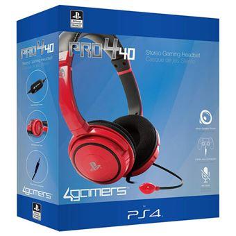 Auscultadores 4 Gamers Pro4–40 Vermelho PS4