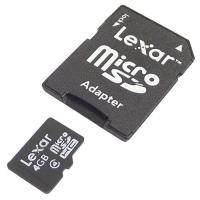 Lexar microSDHC 4GB + Adaptador SD