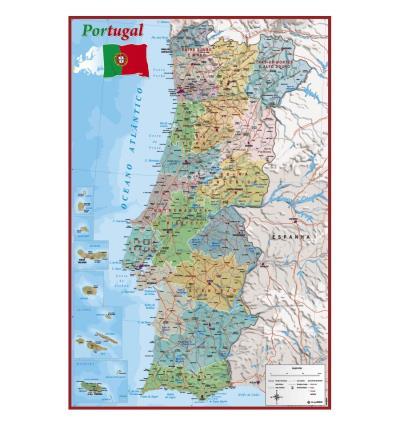 mapa detalhado de portugal Poster Standard (61x91cm)   Mapa Portugal   Merchandising  mapa detalhado de portugal