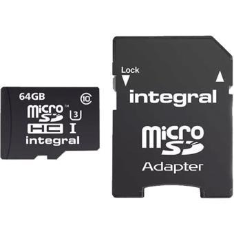 Cartão microSDXC Integral 64GB Classe 10 95/90MB/s