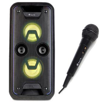 Pack Fnac Coluna NGS Premium Wildjam + Microfone NGS Singer Fire