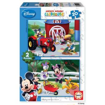 Puzzle Mickey Mouse Club - 2 x 20 Peças