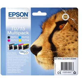 Epson T0715 5.5ml 7.4ml Preto, Ciano, Amarelo tinteiro