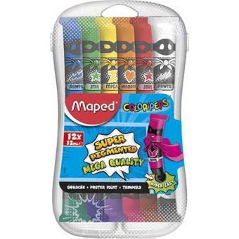 Guaches Maped Color'Peps 12ml - 12 Unidades