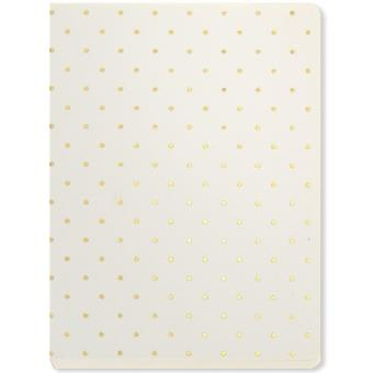 Caderno Pautado White Polka Bolso