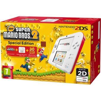 Consola Nintendo 2DS (Branco/Vermelho) + New Super Mario Bros. 2 (Pré-instalado) Edição Especial