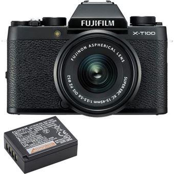 Fujifilm X-T100 + XC 15-45mm f/3.5-5.6 OIS PZ - Preto + Bateria Extra