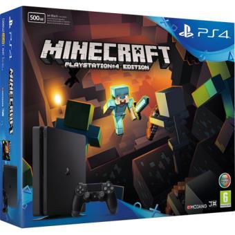 Consola Sony PS4 500GB Black + Minecraft