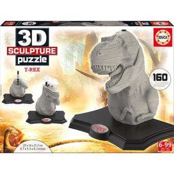 Puzzle 3D Sculpture T-Rex - 160 Peças - Educa