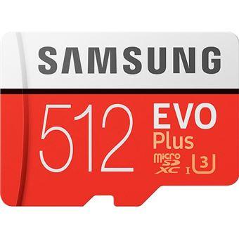 Cartão Memória MicroSDXC Samsung Evo Plus U3 - 512GB