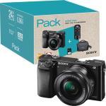 Pack Fnac Sony Alpha α6000 + SEL1650 16-50mm f/3.5-5.6 PZ OSS + SEL55210 55-210mm f/4.5-6.3 OSS - Preto