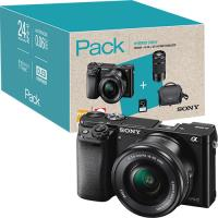 Pack Fnac Sony Alpha α6000 + SEL1650 16-50mm f/3.5-5.6 PZ OSS + SEL55210 55-210mm f/4.5-6.3 OSS - Preto