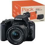 Pack Fnac Canon EOS 200D + EF-S 18-55mm f/4-5.6 IS STM + Cartão SD + Bolsa