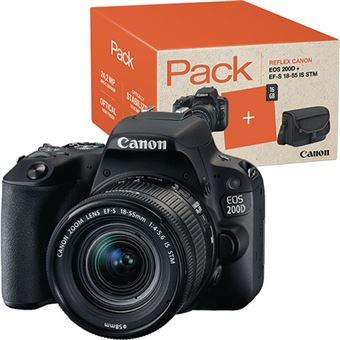 Pack Fnac Canon EOS 200D + EF-S 18-55mm f 4-5.6 IS STM + Cartão SD + ... 774b9e042ad1