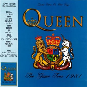 The Game Tour 1981 - LP Clear Vinil