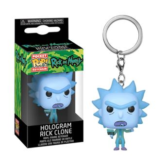 Funko Pop! Porta-Chaves Rick and Morty: Hologram Rick Clone