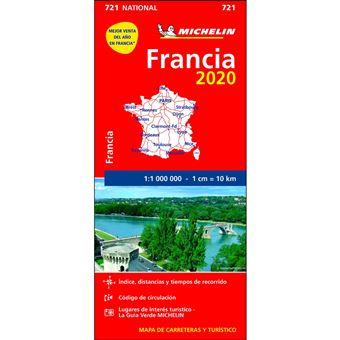 Mapa Michelin National 721 - Francia 2020