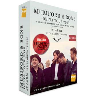 Fã Pack Fnac Mumford & Sons – Voucher Balcão 2 | Preço: 37.53€ Pack + 2.77€ Custos de Operação
