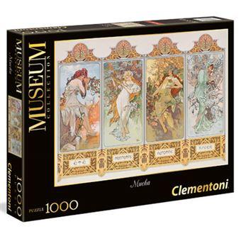 Puzzle Mucha: As Quatro Estações - 1000 Peças - Clementoni