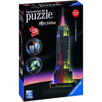 Puzzle 3D Empire State Building With Lights (216 peças)