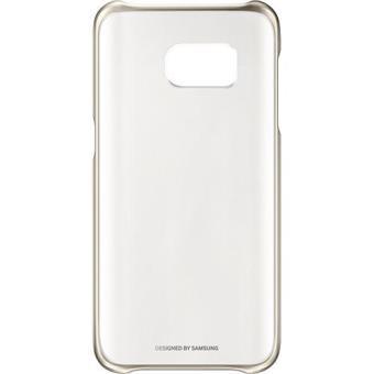 Samsung Capa Clear Cover para Galaxy S7 (Dourado)