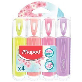 Marcadores Maped Fluo Pepsi Pastel - 4 Unidades