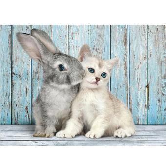 Puzzle Cat & Bunny (500 Peças)