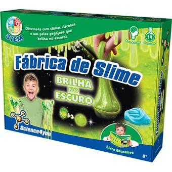Fábrica de Slime Brilha no Escuro - Science4you