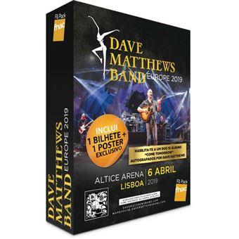 Fã Pack Fnac Dave Matthews Band – Plateia em Pé   Preço: 46.91€ Pack + 3.46€ Custos de Operação
