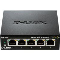 Switch D-Link 5 Portas Gigabit Unmanaged DGS‑105