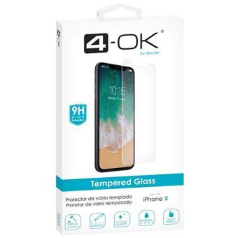 Película Ecrã Vidro Temperado 4-OK para iPhone X