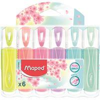 Marcadores Maped Fluo Peps - Cores Pastel 6 Unidades
