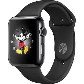 Apple Watch Series 2 42mm Aço Inoxidável Preto Sideral | Bracelete Desportiva Preto