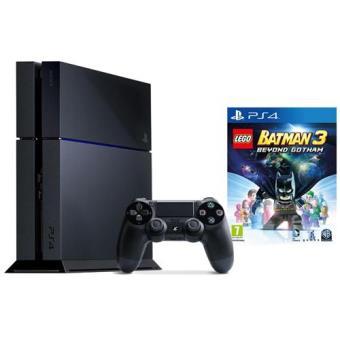 Pack Consola Sony PS4 500GB (Preta) + LEGO Batman 3: Beyond Gotham