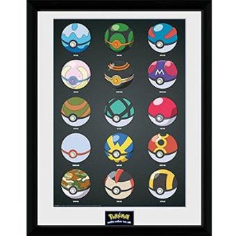"""Pokémon - Poster Emoldurado """"Pokerballs"""""""