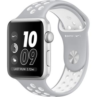 Apple Watch Nike+ 42mm Prateado | Bracelete Desportiva Nike Prateado Mate/Branco